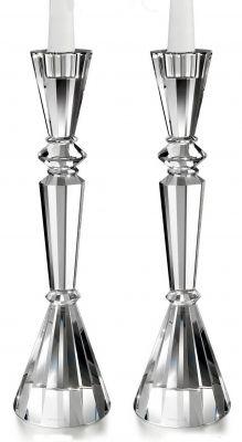 Essex Crystal Shabbat Candlesticks
