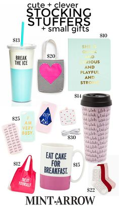 cute and clever stocking stuffers and small gifts!