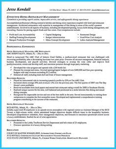 Assistant Restaurant Manager Resume - http://topresume.info ...