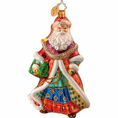 Image detail for -Christopher Radko holiday ornaments, Regal Tidings Radko Christmas Ornaments, Blown Glass Christmas Ornaments, Santa Ornaments, Santa Christmas, Christmas Time, Christmas Decorations, Holiday Decor, Christopher Radko Ornaments, Yule