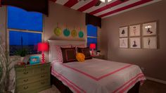 A beautiful #teen #girl's #bedroom in the Lowell model at the Bridges at #Gilbert.