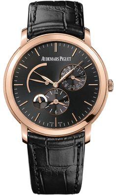 Audemars Piguet Jules Audemars Dual Time 26380or.oo.d002cr.01  #AudemarsPiguet #AudemarsPiguetWatch #AudemarsPiguetWatches #AP #APWatch #APWatches Dream Watches, Luxury Watches, Cool Watches, Watches For Men, Men's Watches, Fine Watches, Bracelet Cuir, Bracelet Watch, Rolex
