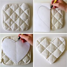TUTORIAL: Heart Hotpads – how to sew bias tape the proper way and the cheating way – MADE EVERYDAY