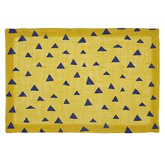 Buy John Lewis Triangle Placemat, Yellow/Blue Online at johnlewis.com