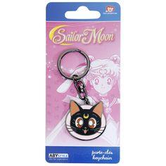 """Portachiavi """"Luna"""" di #SailorMoon con pendente. Materiale: metallo. Dimensioni: 3,8 x 3,8 cm."""