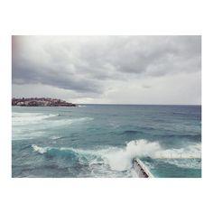 Bondi  #sundays #sydney #nsw #bondi #beach #ocean #grey #clifftop #bonditobronte #fresh #waves #salt #sea by zoecoldhamstudio http://ift.tt/1KBxVYg