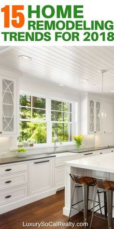 Discover 15 Home Improvement Trends That Will Make You Want To Remodel in 2018 - see what's popular and trending by Joy Bender | Luxury Real Estate San Diego | La Jolla Realtor®️️ #homedecor #remodeling #homeimprovement #homeremodel #diyhomedecor#kitchendesign #kitchens