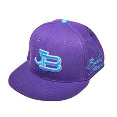 """Justin Bieber """"JB"""" Snapback Hat (Purple/Blue)"""