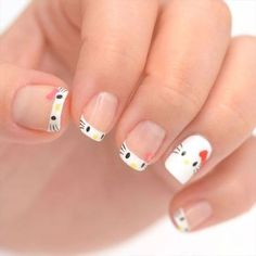 We love Sanrio and one of its most iconic characters, Hello Kitty. From visiting the Hello Kitty Restaurant in Japan, to wanting to do everything on the Hello Cat Nail Designs, Elegant Nail Designs, Blue Nail Designs, Nails Design, Cat Nail Art, Cat Nails, Fake Nails For Kids, Nailart, Hello Kitty Nails