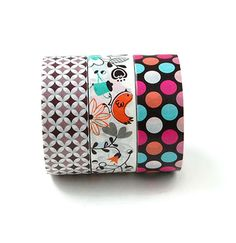 Washi tape set of 3 washi tape lot of 3 by LoveStickyNotes on Etsy
