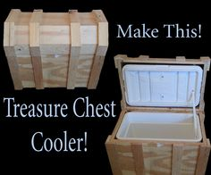 I recently saw an instructable about turning a cooler into a treasure chest and had to give it a go.http://www.instructables.com/id/Pirate-Chest-Beer-...