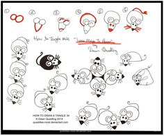 How to Tangle 21 Love Mices To Pieces quaddles by Quaddles-Roost.deviantart.com on @deviantART