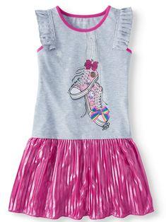 0a8596b7b674d3 Jo-Jo Jojo Siwa 3D Bow Pleated Jersey Dress (Little Girls   Big Girls)