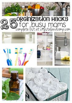 busy mom hacks for organization