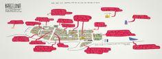Barcelona, Así Muy Rápido: by Sergio Ledo    http://www.departful.com/2012/09/they-draw-and-travel-15-creative-travel-maps/