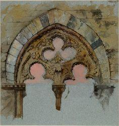 A Window of the Palazzo Tolomei, Siena John Ruskin