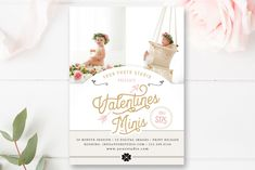 Valentine's Mini Session Marketing Board, Photoshop Template, Photography Template, Love, Valentine Minis, Holiday Mini Sessions, By Stephanie Design
