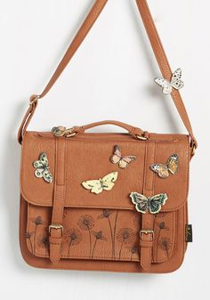 I'd Like to Mariposa Question Bag, #ModCloth