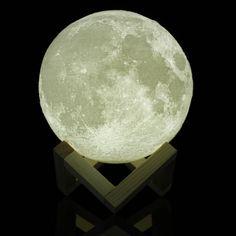 15cm 3D Magical Two Tone Moon Lamp USB Charging Luna LED Night Light Touch Sensor Gift Sale - Banggood Mobile
