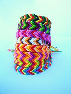 L.A. Raised-8 String Arrows-multi colored Bracelets. $5.00, via Etsy.