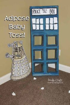 Doodlecraft: Doctor Who Party Week: GAMES! adipose baby toss