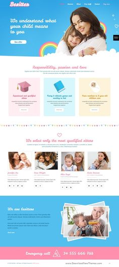 BeTheme is a clean, stylish and modern design responsive multipurpose WordPress theme that helps you build any type of website in a few hours. It comes with 500+ pre-built niche homepage layouts. Save time and money to download now & live preview click on image 👆 Sitter babySitter nanny childcare Sitterwebsitedesign Sitterwebsitetheme webdev uiux webtemplate weblayout