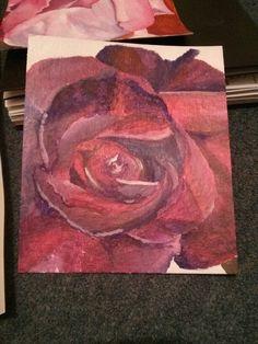 Acrylic painting, rose