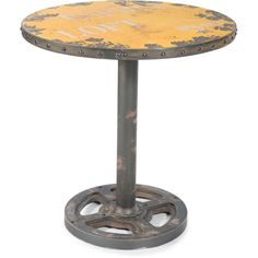 Aurelle Home Industrial Round Dining Table