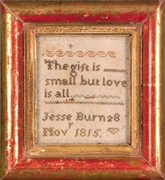 The gift is small but love is all Jesse Burns 8 Novr. 1815