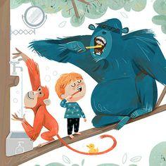 Sketch 2, Colorful Animals, Children Books, Chapter Books, Picture Books, Inktober, Graphic Illustration, Illustrators, Composition