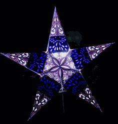 "Star Lanterns Blueberry Purple Rain 24"""