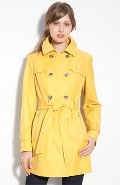 Own it and Love it!  Sunny Yellow Gallery Trench Coat