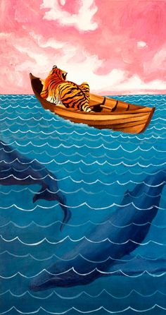 Life of Pi wall art by Jack Bruml Norton, via Etsy.