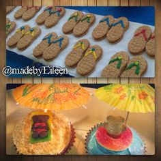 DIY treats I made for my niece's 1st Birthday! It was a Beach Themed party.  @MadeByEileen