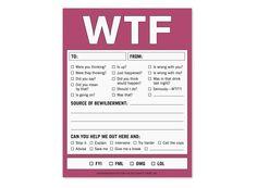 WTF Nifty Notes - Witty Checkbox Notepads by Knock Knock #KnockKnockStuff