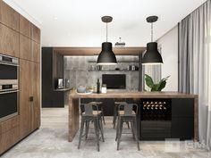 Дизайн интерьера квартиры с кухней гостиной для мужчины. Функциональный интерьер в мужской интерпретации с красивой гостиной и сексуальной спальней от студии дизайна GM-Interior