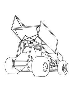 Sprint Car Racing Metal Wall Art