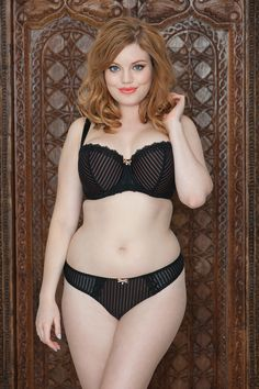 1529211a61808 Ritzy s pinstripes are a fabulous alternative for everyday lingerie from Curvy  Kate - made for D-K