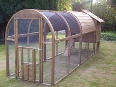 Rounded Top Enclosure::Actually a chicken coop/run, but could be easily adapted as a cat enclosure. Click on links to view many more  http://pinterest.com/jdevarona/outdoor-cat-enclosure/  http://habitathaven.com/blog/category/cats-den-photos/usa-cat-enclosure-photos/