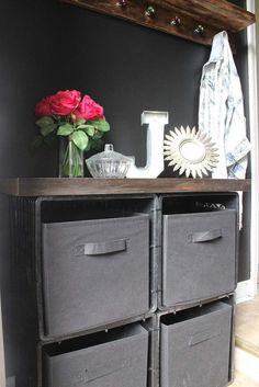 I'm going to show you guys how to make a shoe storage out of milk crates and zip ties. It's a cost effective, practical solution for storage shoes (or whatever… Entryway Shoe Storage, Diy Shoe Storage, Laundry Room Storage, Storage Organization, Storage Shelves, Budget Storage, Record Storage, Wood Storage, Storage Crates