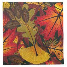 Autumn / Fall Leaves - Table Cloth Napkin