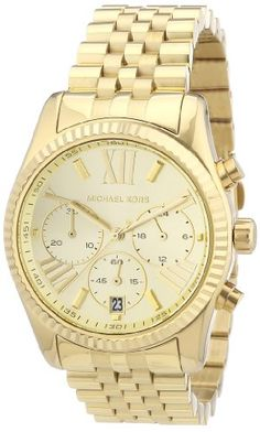 Michael Kors MK5556 Ladies Gold Plated Chronograph Watch - http://buyonlinemakeup.com/michael-kors/michael-kors-mk5556-ladies-gold-plated-watch