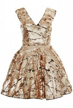 Gold Sequin Prom Dress by OPULENCE ENGLAND £49 @girlmeetsdress