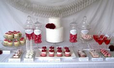 Dessert Table Wedding Favours Include Cakepops, Macarons, Mousse Cake And Cupcakes