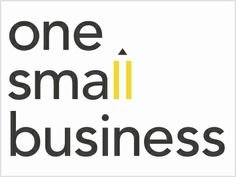 One Small Business - like this simple logo
