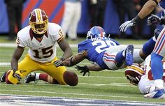 Giants @ Redskins: Giants rookie CB Jayron Hosley pounces on a fumble to seal the Giants win late in the QTR. Football Hits, New York Football, New York Giants, Football Helmets, Indianapolis Colts, Cincinnati Reds, Pittsburgh Steelers, Dallas Cowboys, Giants Vs Redskins