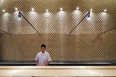 For a sushi restaurant in Ho Chi Minh City, Vietnam, Joe Chikamori designed a space that highlights the Japanese high quality materials and food for clients satisfaction. Restaurant Design, Restaurant Bar, Vietnamese Restaurant, Design A Space, Sushi Restaurants, Ho Chi Minh City, Cafe Bar, Modern Materials, Interior Inspiration