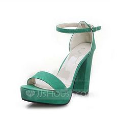 Sandals - $23.99 - Leatherette Chunky Heel Sandals Pumps With Buckle shoes (087048481) http://jjshouse.com/Leatherette-Chunky-Heel-Sandals-Pumps-With-Buckle-Shoes-087048481-g48481