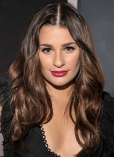 How to hide bangs with hair down!   Lea Michele Loses Her Bangs at the Grammys: Flash: Self.com