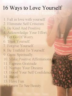 16 ways to love your self. Forgiving Yourself, Trust Yourself, Mantra, This Is Your Life, Learning To Love Yourself, Body Confidence, Learn To Love, Before Us, Positive Affirmations